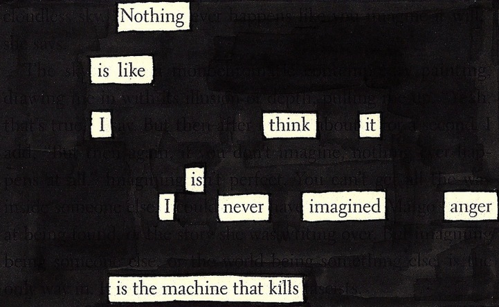 Virtual Writers Group – Blackout Poetry